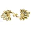 Motif Beaded 19.5cmx7.5cm Fancy Shape 1Pc Gold Aurora Borealis